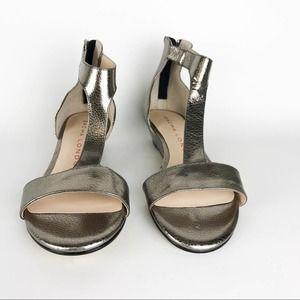 Sasha London Zarina Metallic Leather T-Strap Shoe